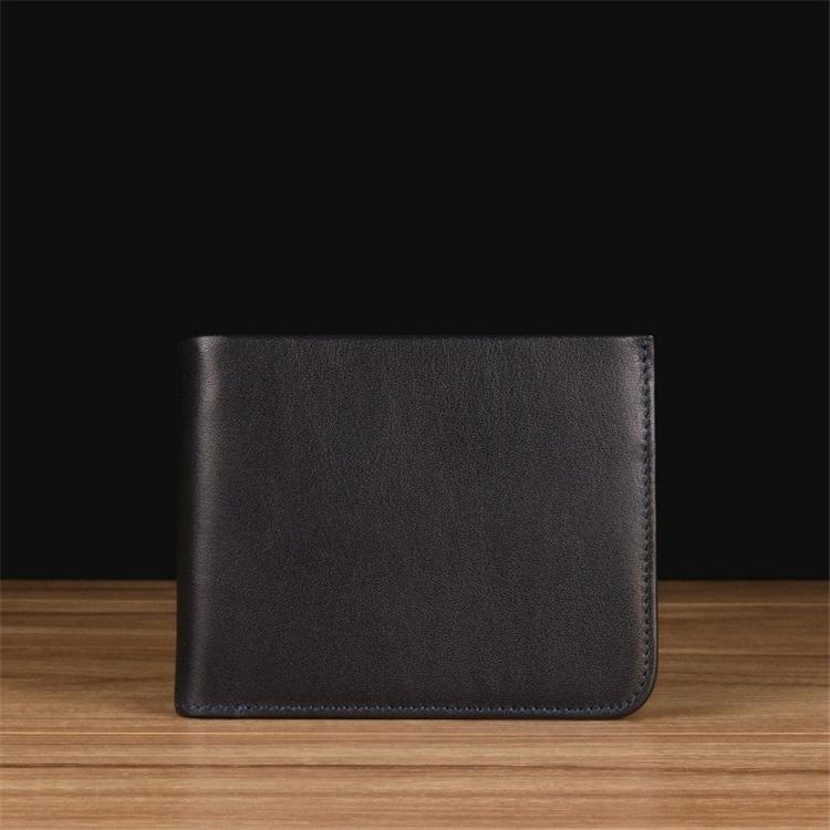 皮具定制多卡位短款皮包休闲钱夹零钱袋男士真皮小钱包牛皮革皮夹