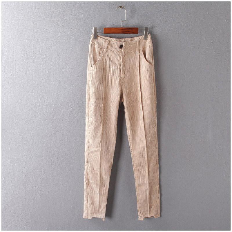 AAA B + я талии и тонкие брюки в осень/зима серии новой корейской версии Джокер случайных брюки женщин A14-8261-1