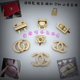 包包配件五金锁扣金属扣小香包锁扣拧锁泫雅布条包锁扣配件装饰锁图片
