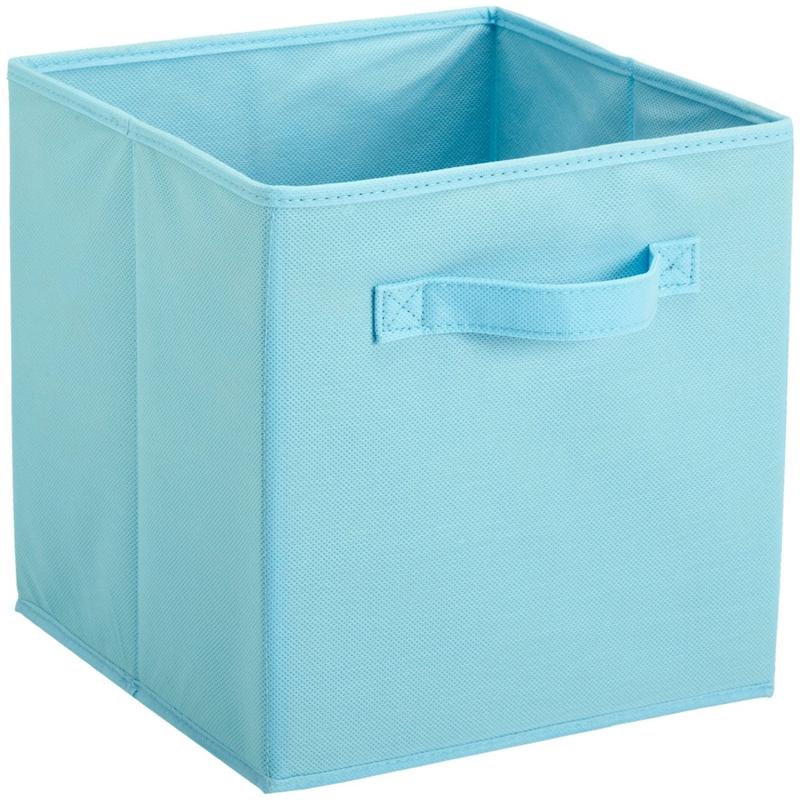 促销纯色盖收纳箱衣橱收纳盒布艺玩具储物箱抽屉盒杂物筐27 27 28 Изображение 1
