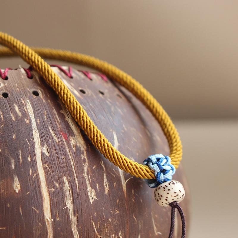 进口柔软可调节简约不褪色珠宝配绳吊坠挂玉男款琥珀蜜蜡原创手工