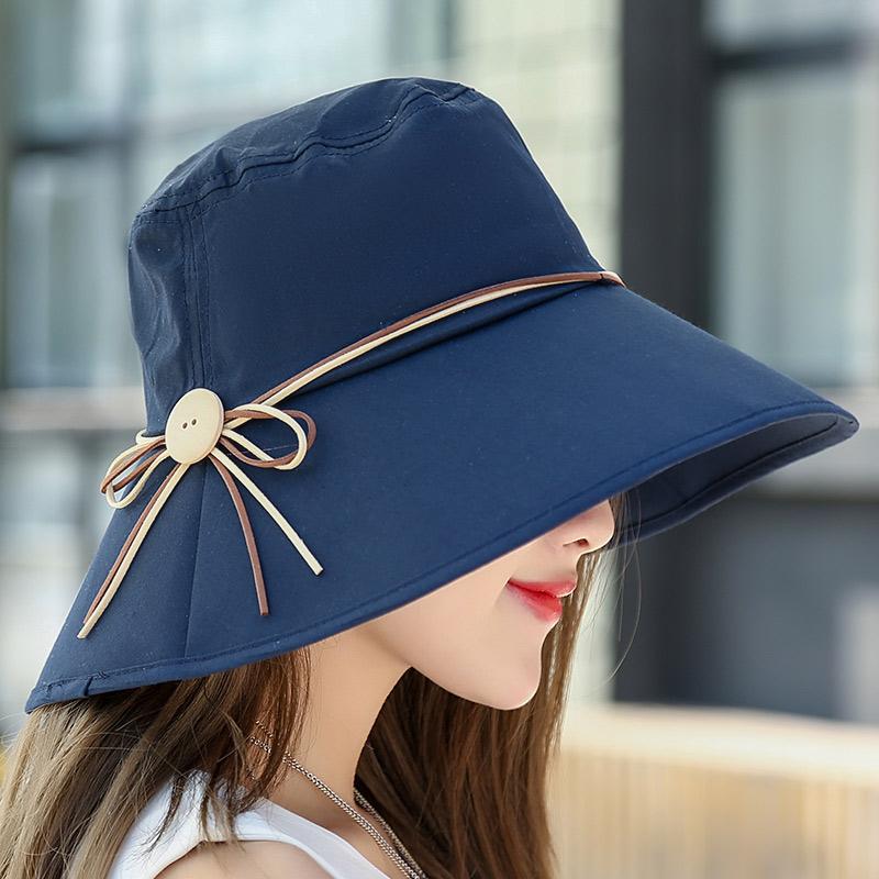 タオバオ仕入れ代行-ibuy99|帽子|帽子女夏天户外出游防紫外线凉帽可折叠遮阳帽大沿百搭防晒太阳帽