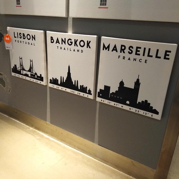 国内宜家代购 皮亚特  图片城市天际线造型3现代装饰画