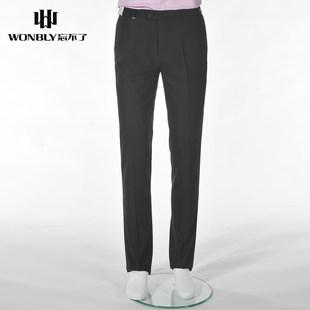 湖南 长沙忘不了男装夏季商务修身纯色正装西裤时尚轻薄透气舒适上班长裤子