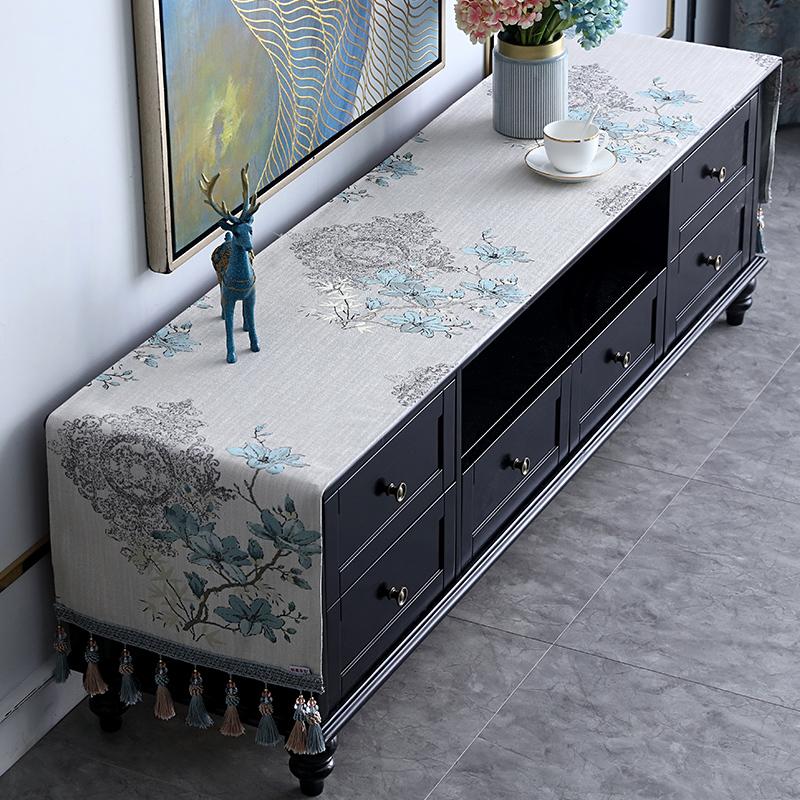 新中式电视柜罩子长方形茶几垫台布10月12日最新优惠