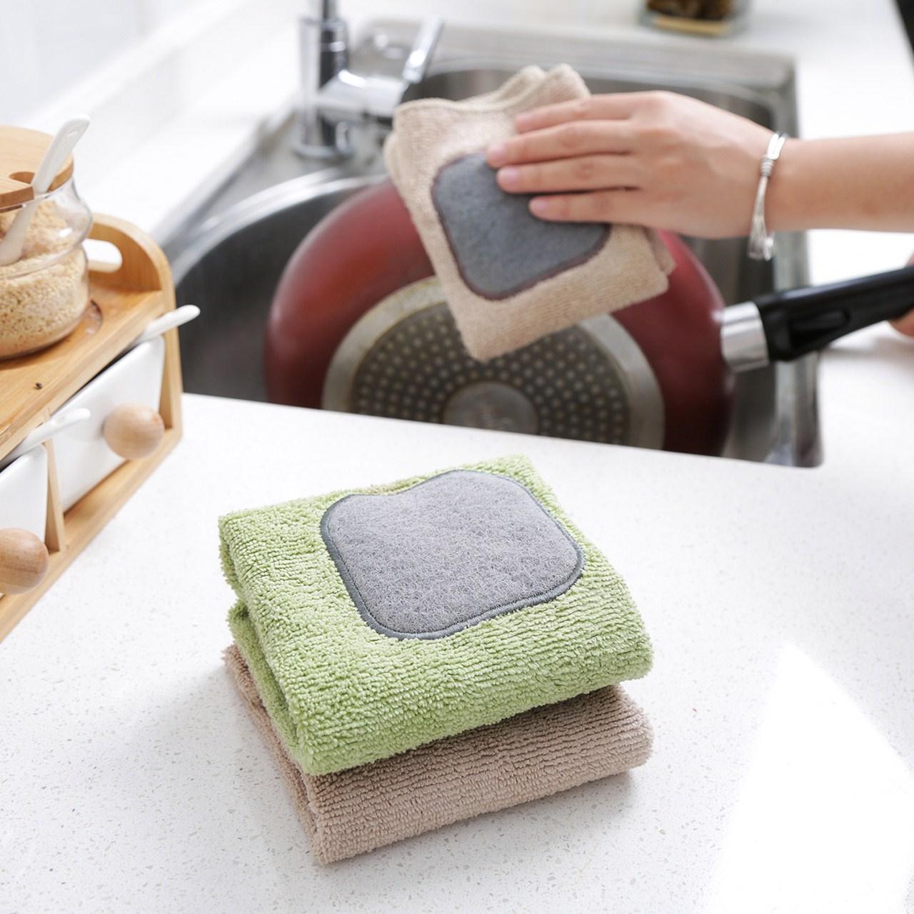 洗碗吸水布清洁擦布巾家用毛巾家务加厚不掉毛沾油多功能厨房抹布