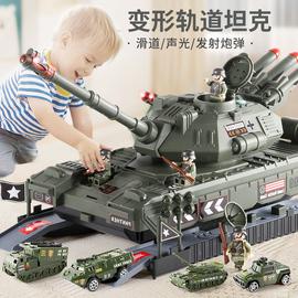超大号坦克玩具车故事音乐耐摔惯性车军事男孩3合金小汽车5岁礼物