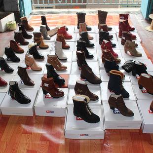 亏本赚人气女单鞋保暖短靴女单棉靴平底高帮中筒靴英伦风女靴子潮