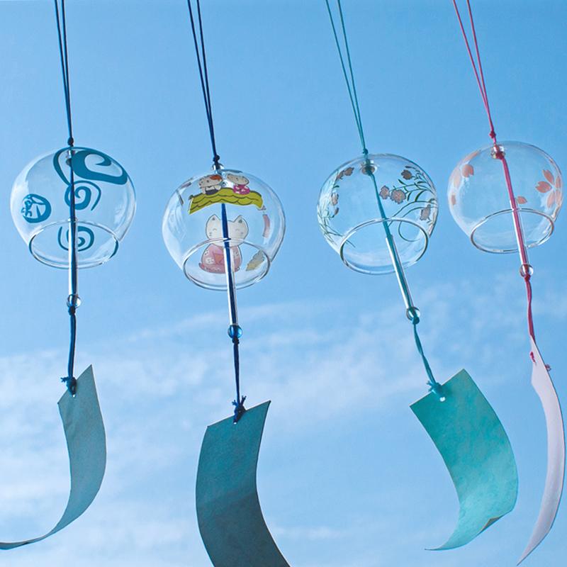 浪漫玻璃樱花铃铛小风铃日式女生挂饰创意挂件小清新闺蜜生日礼物