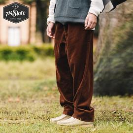 714street 20AW潮牌百搭灯芯绒裤子男士春秋新款宽松直筒休闲长裤图片