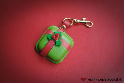 革也GEYE 纯手工皮具定制 圣诞礼物系列 圣诞礼品零钱包 包包挂饰