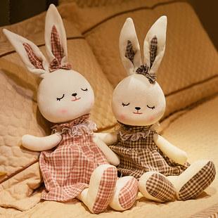 可爱兔子公仔毛绒婴儿玩具安抚兔布娃娃抱抱熊睡觉玩偶女宝宝礼物