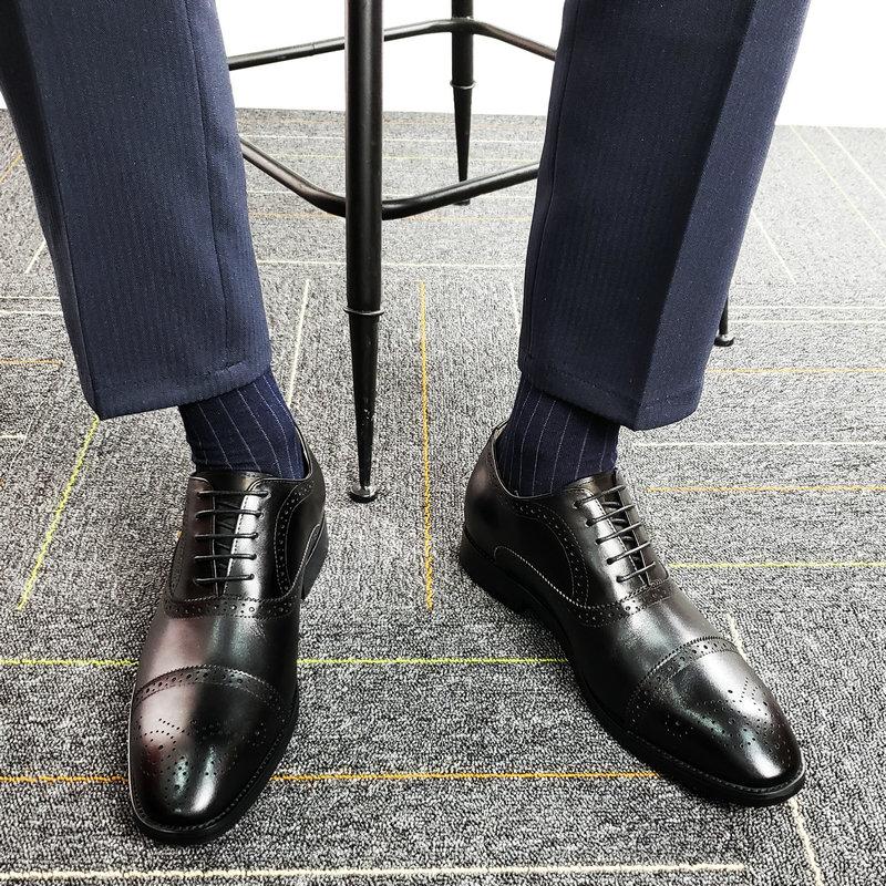 隐形内增高真皮6cm8商务正装35皮鞋使用评测分享