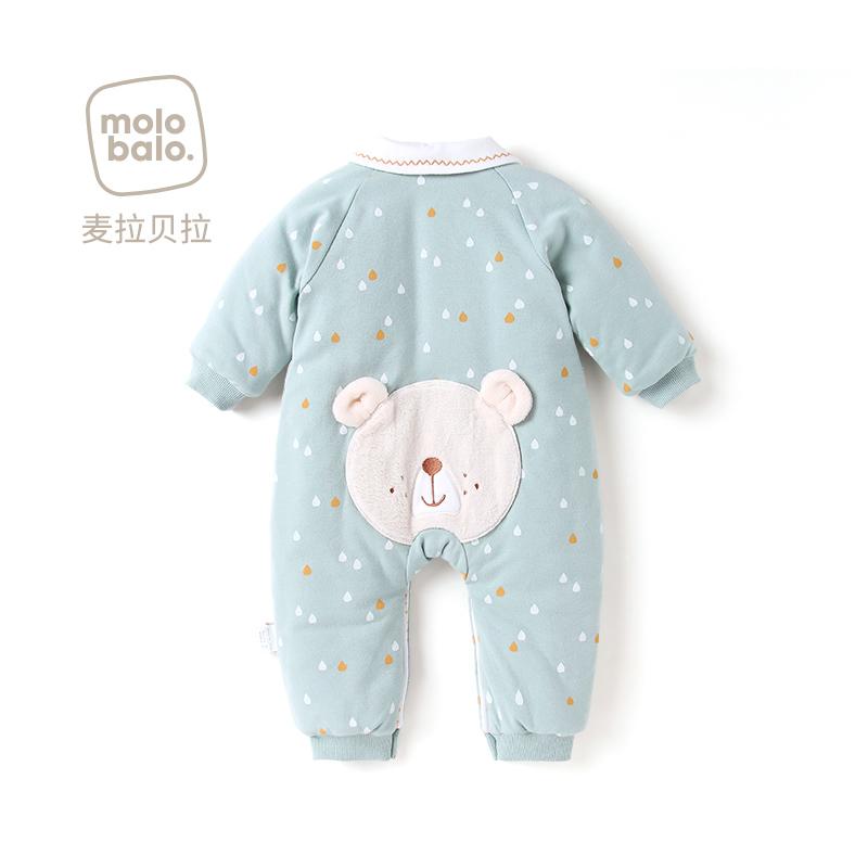 10月14日最新优惠婴儿夹棉纯棉秋冬季新生保暖棉衣