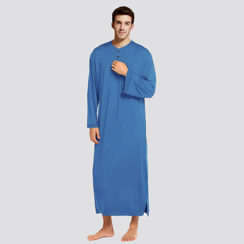 高密爽滑莫代尔棉一体式睡衣男薄款春夏大码连体男士睡裙子睡袍男