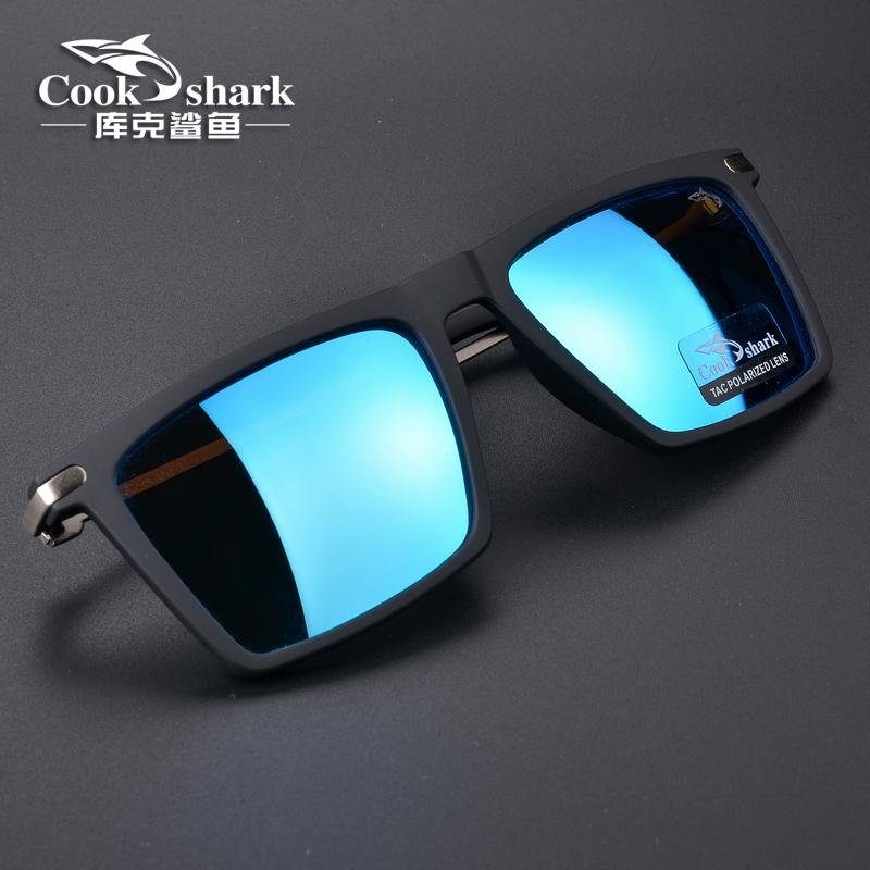 库克鲨鱼2021新款防紫外线太阳镜男士变色墨镜女潮偏光开车驾驶镜