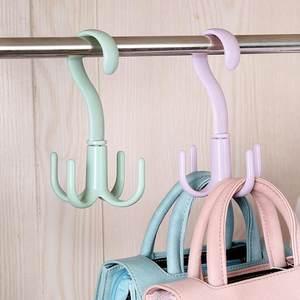创意 可旋转多用挂架 丝巾衣架子多功能家用省空间塑料挂钩