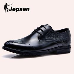 吉普森男鞋2019春季新款皮鞋商务正装皮鞋真皮英伦黑德比鞋X8211