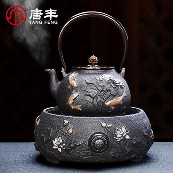 唐丰铁壶铸铁茶壶泡茶烧水壶仿日本南部半手工煮茶器电陶炉煮茶壶