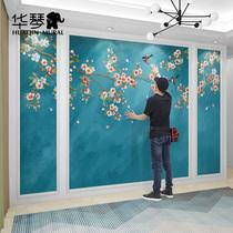 简约现代欧式无纺布墙纸客厅壁纸素色亚麻无缝墙布美式卧室壁布
