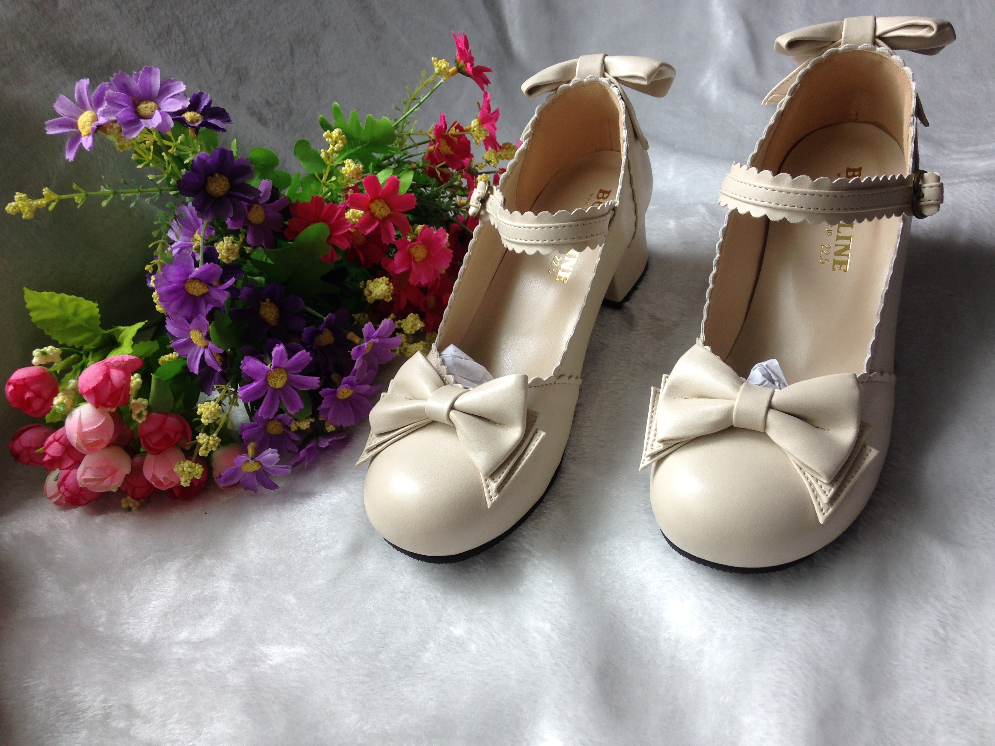 Chinese and Japanese bowknot large Lolita womens shoes