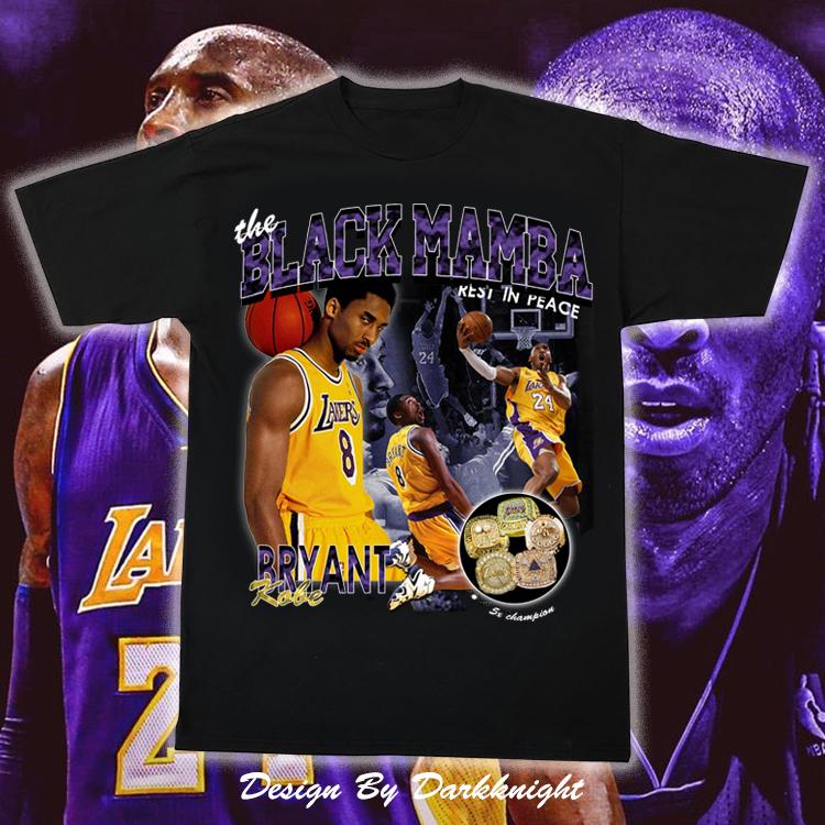 Kobe 科比 T恤 人像 纪念款 vintage 致敬 NBA 湖人 嘻哈 HIPHOP