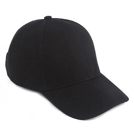 潮牌白色黑色红色弯沿春秋男女帽子