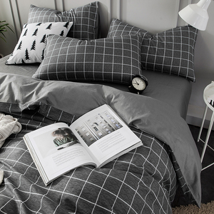 北欧四件套全棉纯棉简约100夏季床单被套床笠宿舍三件套床上用品4