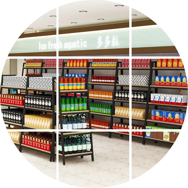 精品货架产品展示架样品柜陈列架双面置物架多功能鞋店超市中岛柜图片