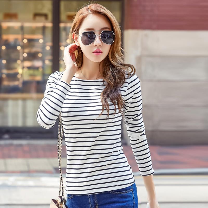 条纹纯棉T恤