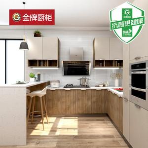 金牌厨柜整体抗菌橱柜定做枫之台面