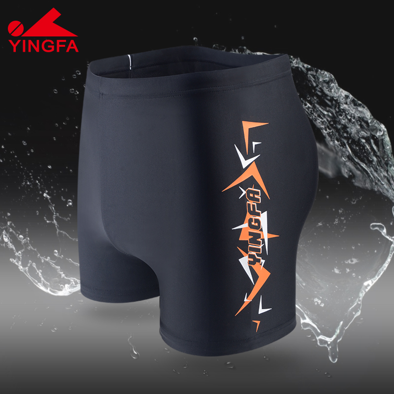 British hair swimming trunks mens boxer pants short and comfortable adult quick dry exercise large hot spring swimming trunks headdress swimming equipment