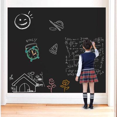 儿童黑板贴白板贴黑板墙家用教学涂鸦墙膜可擦写自粘墙贴纸可移除