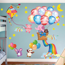Wall stickers living room children's room wallpaper bedroom wallpaper self adhesive warm removable room decoration cartoon wall stickers