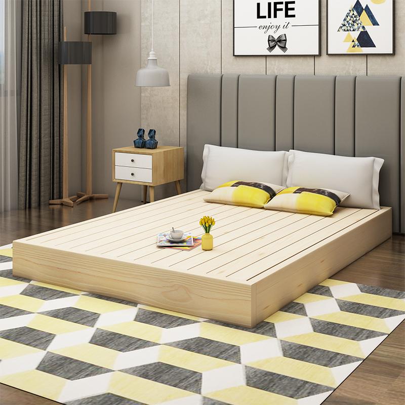 Заказ жесткий деревянные кровати подушка дерево доска ремень 1.5 кровать совет двуспальная кровать полка 1.8 метр жесткий сиденье мечтать мысль татами