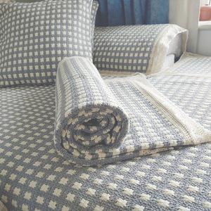 防滑沙发垫四季通用北欧简约棉麻亚麻盖布巾粗布坐垫子万能套罩