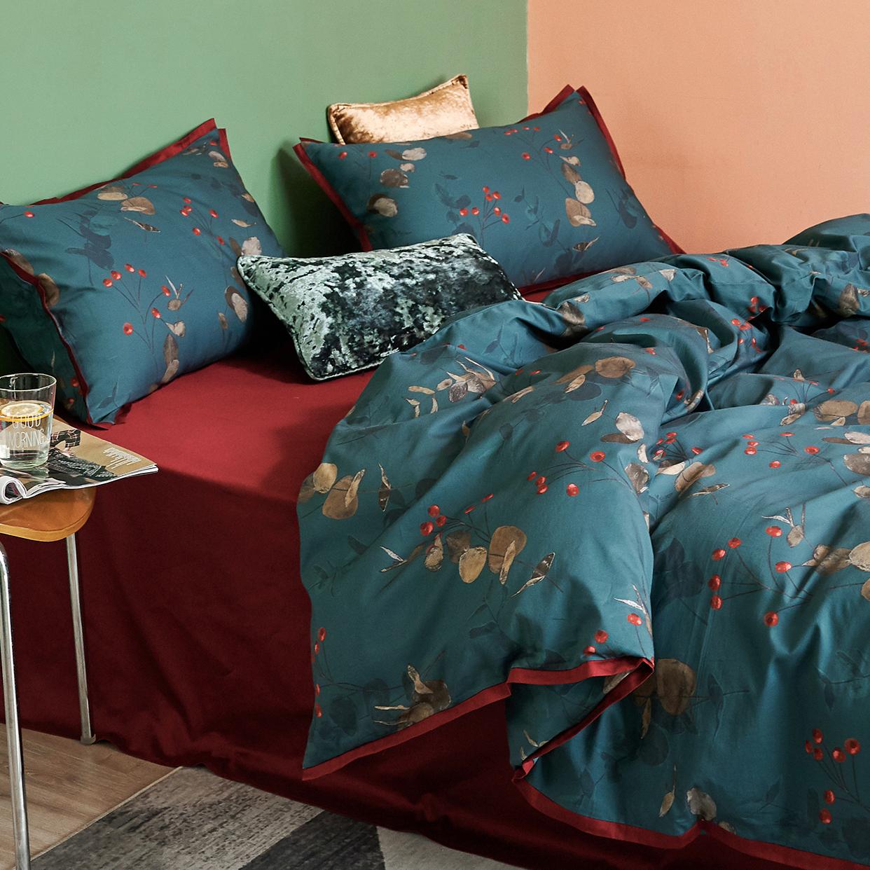 小井家轻奢高档60支贡缎四件套纯棉全棉床上用品床单被套床品套件