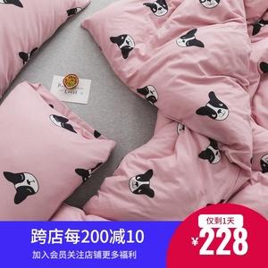 小井家针织棉全棉四件套ins裸睡柔软澳洲长绒棉婴儿级A类床上用品