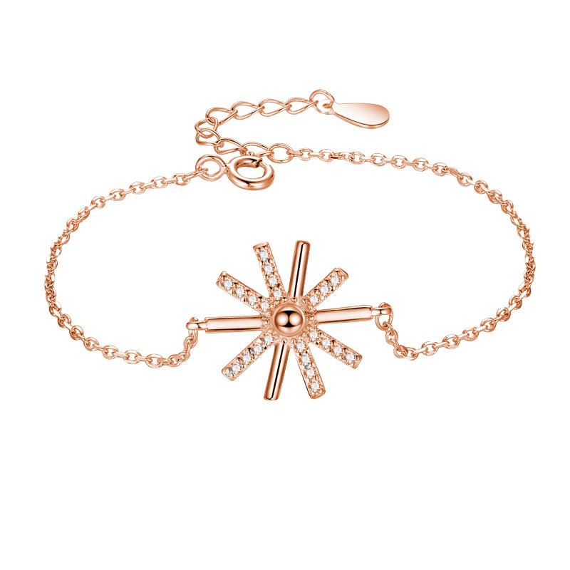 银饰S925纯银饰品韩版太阳的后裔明星同款微镶手链女森系学生饰品