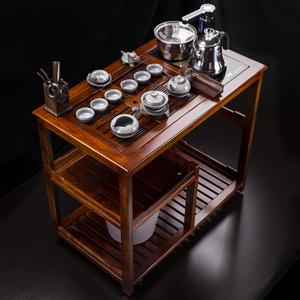 汇享茶车花梨木可移动带轮阳台小茶桌实木茶台茶盘功夫泡茶桌茶具