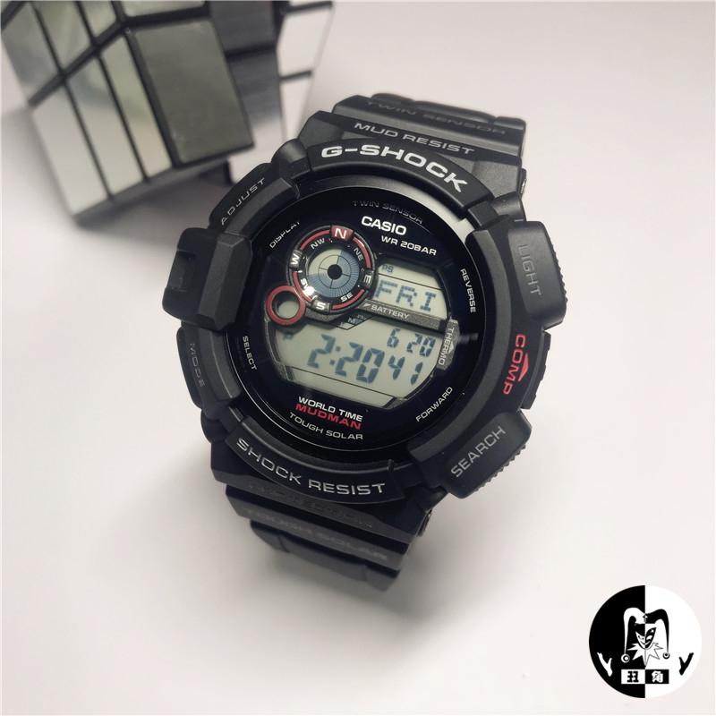 卡西欧g-shock 太阳能电波表GW-9400-1泥人G-9300-1/GB-1电子手表
