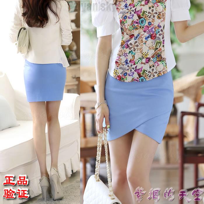 Ziyan Korean genuine imported womens Xiaxin Hip Wrap Skirt fashion tight one-step skirt sexy bud skirt