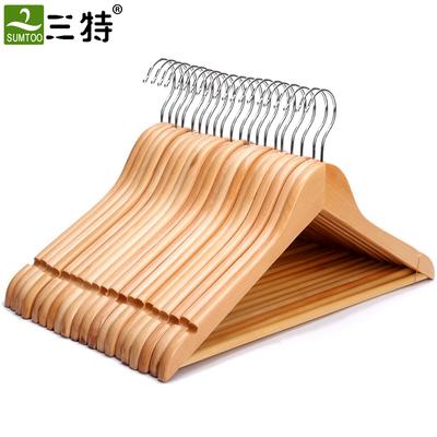 实木衣架挂衣衣挂衣柜木质木头子衣服撑子家用挂钩衣撑木制架酒店