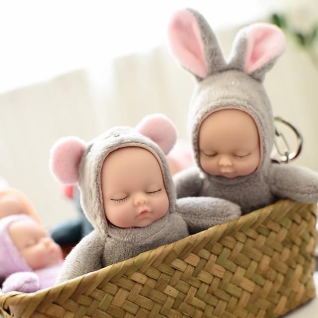 Бесплатная доставка спальный ребенок брелок росток сон кукла baby мешки кулон брелок подарок подарок