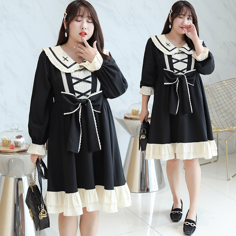 2020 spring new super size womens sweet palace style Lolita small dress