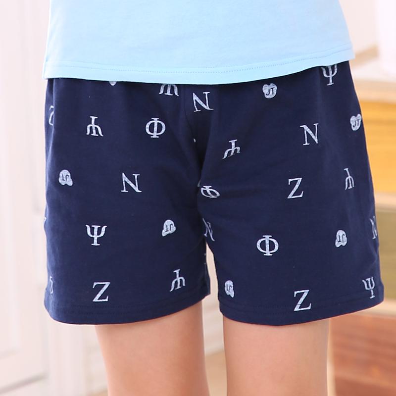 夏季男童短裤居家睡裤儿童纯棉三分裤中大童沙滩裤小女孩休闲外穿