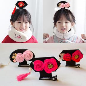 新年头饰2020新款儿童中国风过年喜庆头花发饰女童格格发夹流苏
