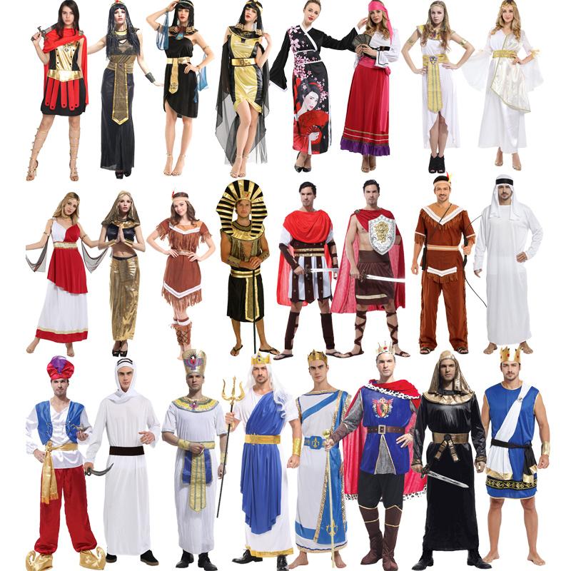 万圣节成人服装大男大女异国服饰希腊罗马雅典印第安阿拉伯阿拉丁