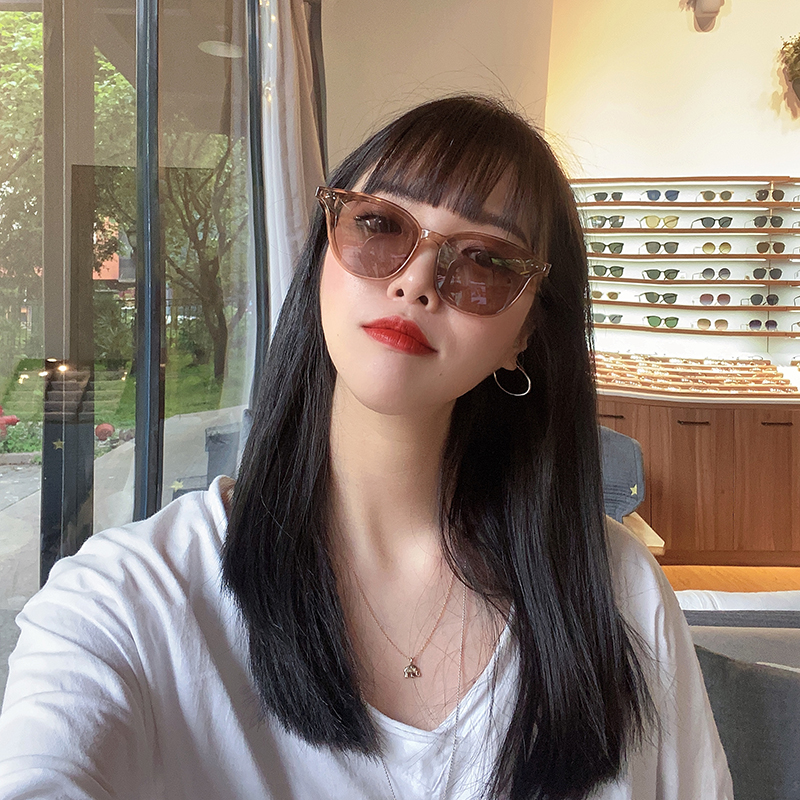 GM Sunglasses star same style net red fashion driving glasses round face slim and trendy Sunglasses New Style polarized light for men and women