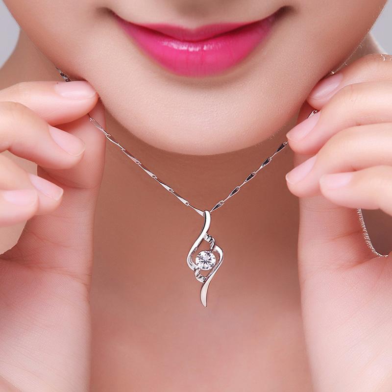 PT950铂金项链 生日礼物 专柜白金项链 百搭珠宝首饰 钻石吊坠女